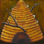 Hive Oil on wood panel. 16 x 16 inches