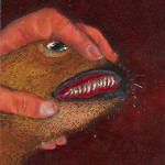 Dog Oil on canvas. 12 x 14 inches