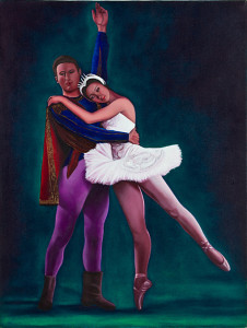 Ballet Oil on wood panel. 26 x 24 inches