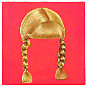 "Blonds Braids 12"" x 12""Oil of Wood Panel"