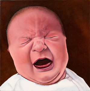 Cry Baby Oil on wood panel. 14 x 13 inches