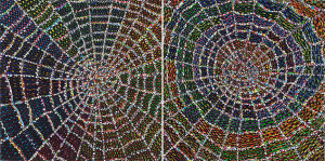 Web (diptych) Oil on wood panels. 24 x 12 inches