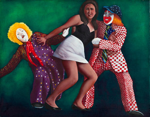 Clowns Oil on canvas. 24 x 18 inches
