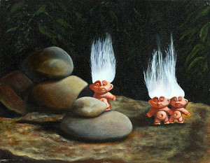 Trolls Oil on canvas. 24 x 18 inches