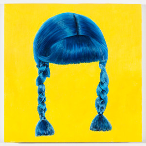 "Bluenet Braids 12"" x 12"" Oil on Wood Panel"